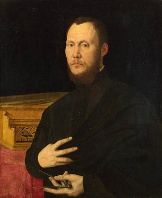 Campo Painting - Portrait Of A Musician by Bernardino Campi