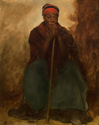 Negro Painting - Portrait Of A Negress by Mountain Dreams