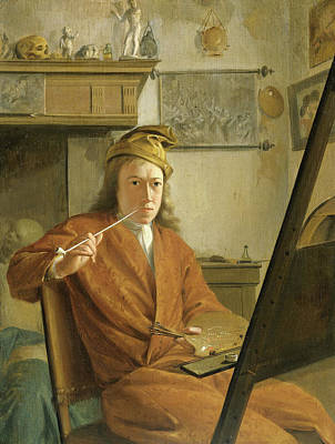 Himself Painting - Portrait Of A Painter, Perhaps The Artist Himself by Litz Collection