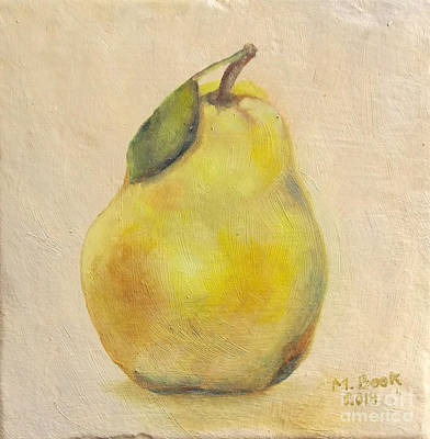 Painting - Portrait Of A Pear by Marlene Book