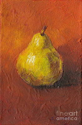 Portrait Of A Pear Art Print by Sandy Linden