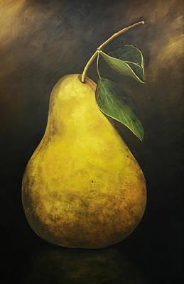 Portrait Of A Pear Art Print by Terri  Meyer