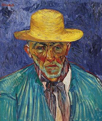 Pasadena Painting - Portrait Of A Peasant - Patience Escalier by Vincent van Gogh