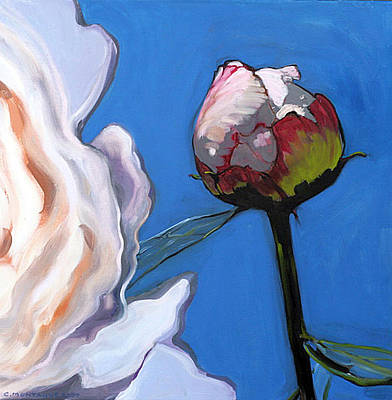 Painting - Portrait Of A Peony Bud by Christine Montague