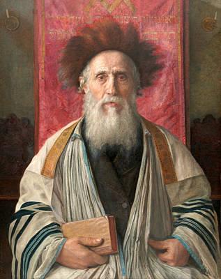 Isidor Kaufmann Painting - Portrait Of A Rabbi by Isidor Kaufmann