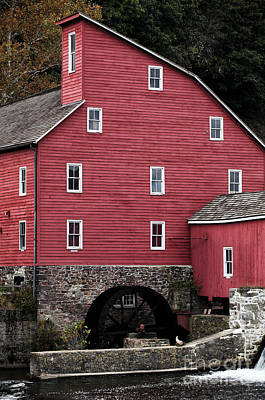 Portrait Of A Red Mill Art Print by John Rizzuto