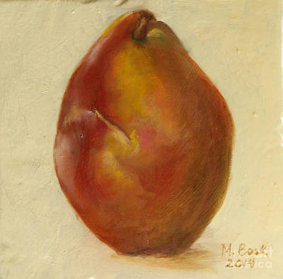 Painting - Portrait Of A Red Pear by Marlene Book