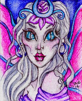 Portrait Of A Sidhe Queen- Altheia Art Print by Coriander  Shea