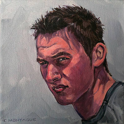 Painting - Portrait Of A Teenager With Attitude by Christine Montague