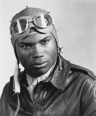 Portrait Of A Tuskegee Airman. Howard Art Print by Everett