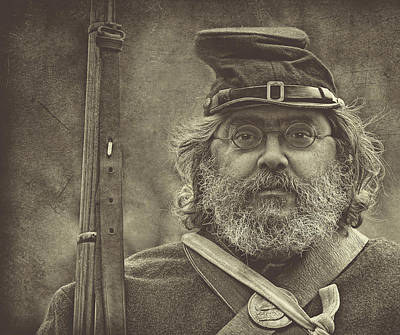 Portrait Of A Union Soldier Art Print by Pat Abbott