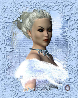 Featured Tapestry Designs - Portrait of a White Witch by MaryAnn Halstead
