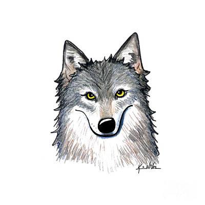 Portrait Of A Wolf Original