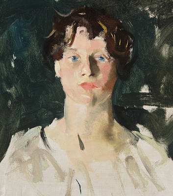 Portrait Of A Woman Print by Charles Webster Hawthorne