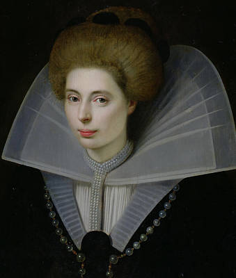 Netherlands Painting - Portrait Of A Woman  by Dutch School