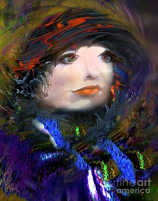 Portrait Of A Woman From A Long Time Ago Art Print by Doris Wood