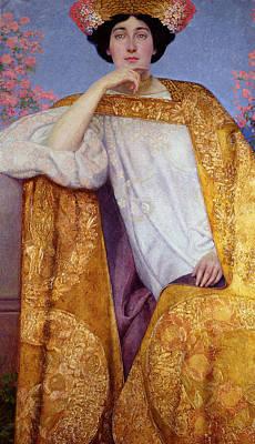 Painting - Portrait Of A Woman In A Golden Dress by Gustav Klimt