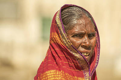 Photograph - Portrait Of A Woman In Hampi by Valerie Rosen