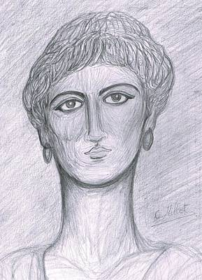 Portrait Of A Woman In Hellenistic Belle Epoque Style Original by Cindy MILLET