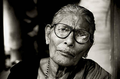 Photograph - Portrait Of A Woman In Madurai by Valerie Rosen