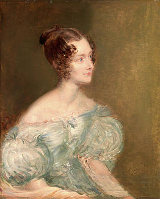 Rugby Painting - Portrait Of A Woman by Litz Collection