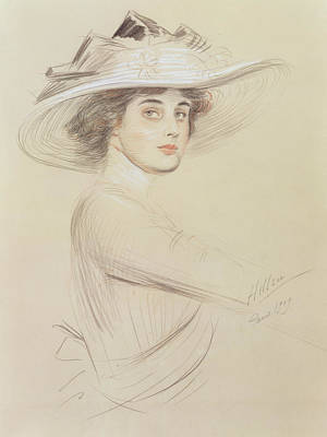 Portrait Of A Woman Art Print by  Paul Cesar Helleu