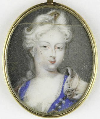 Portrait Of A Woman, Presumably Christiane Charlotte Art Print by Litz Collection