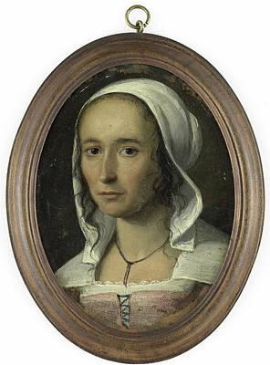 Self-portrait Drawing - Portrait Of A Woman, Self Portrait Of Anna Maria Van by Litz Collection