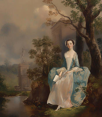 Wood Castle Painting - Portrait Of A Woman by Mountain Dreams
