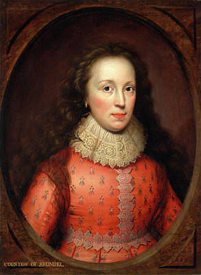 Portrait Of A Woman, Traditionally Identified Art Print