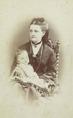 Portrait Of A Woman With A Baby, Wj Gram Mann Art Print