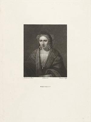 Portrait Of A Woman With Pearl Earrings, Print Maker Art Print