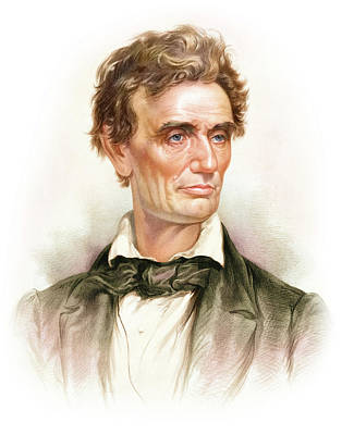 Politicians Royalty-Free and Rights-Managed Images - Portrait Of A Young Abraham Lincoln by Stocktrek Images