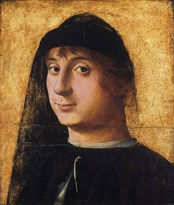 Portrait Of A Young Gentleman Art Print by Antonello da Messina
