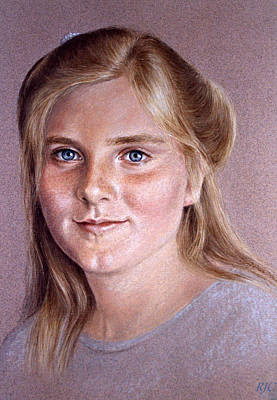 Painting - Portrait Of A Young Girl by Rosemary Colyer