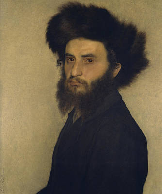 Portrait Of A Young Jewish Man  Art Print by Isidor Kaufmann