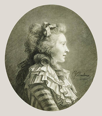Portrait Of A Young Lady In Profile Henri-pierre Danloux Art Print by Litz Collection