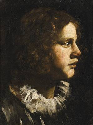 Ruff Painting - Portrait Of A Young Man In A White Ruff by Celestial Images