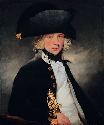 Sailor Hat Painting - Portrait Of A Young Midshipman, C.1796 by Sir William Beechey
