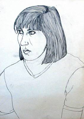 Drawing - Portrait Of A Young Woman by Anita Dale Livaditis