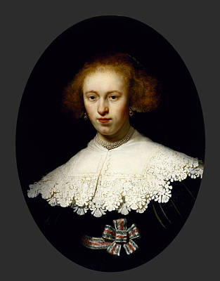 Woman Painting - Portrait Of A Young Woman by Celestial Images