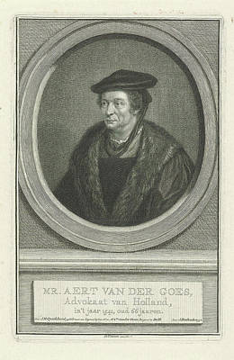 Portrait Of Aart Van Der Goes, Jacob Houbraken Art Print
