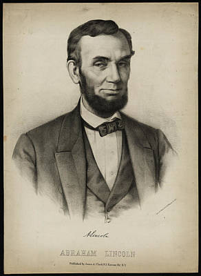 Politicians Royalty-Free and Rights-Managed Images - Portrait of Abraham Lincoln by Celestial Images
