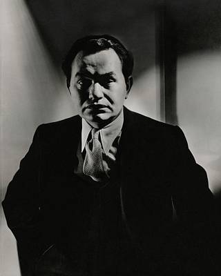 Button Down Shirt Photograph - Portrait Of Actor Edward G. Robinson by Anton Bruehl
