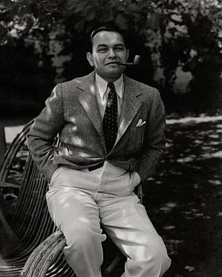 Portrait Of Actor Edward G. Robinson Art Print by William Bolin