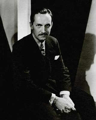 Button Down Shirt Photograph - Portrait Of Actor Frederick March by Toni Von Horn
