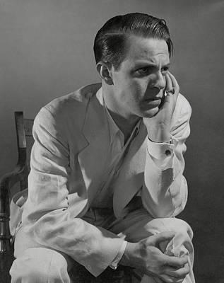 Button Down Shirt Photograph - Portrait Of Actor Louis Hayward by Edward Steichen