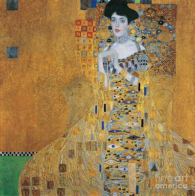 Unique Oil Painting - Portrait Of Adele Bloch-bauer I by Gustav Klimt