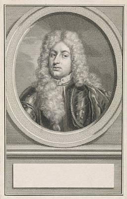 Adolf Drawing - Portrait Of Adolf Hendrik Van Rechteren, Print Maker Jacob by Jacob Houbraken And Roelof Koets Ii And Hendrik Pothoven