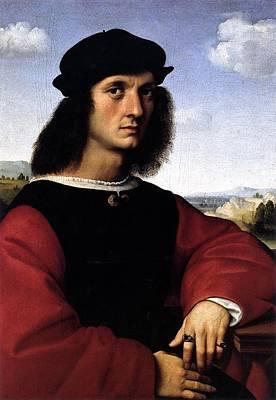 1506 Painting - Portrait Of Agnolo Doni by Raffaello Sanzio
